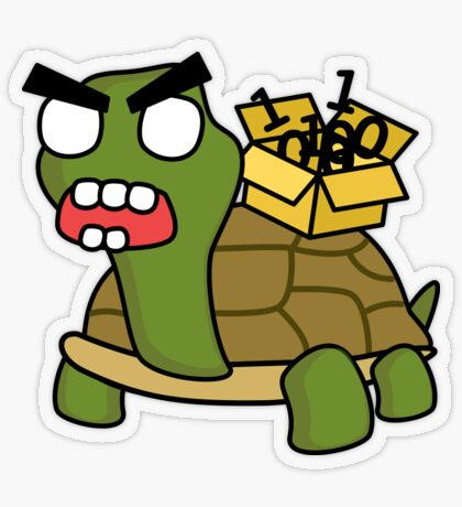 angry zombie packet tortoise Transparent Sticker