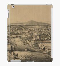 Vintage Pictorial Illustration of San Francisco CA (1851) iPad Case/Skin