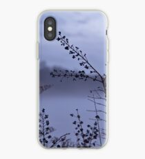 Foggy Winter Botanicals in Landscape iPhone Case