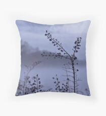 Foggy Winter Botanicals in Landscape Throw Pillow