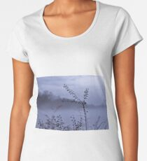 Foggy Winter Botanicals in Landscape Women's Premium T-Shirt