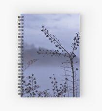Foggy Winter Botanicals in Landscape Spiral Notebook