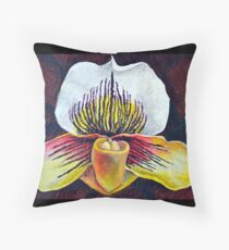 Orchid Arc Throw Pillow