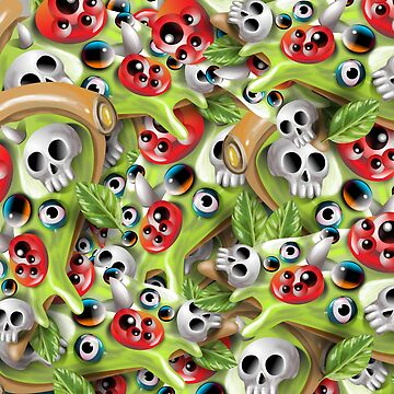 Pizza Monster Pattern by fakeface