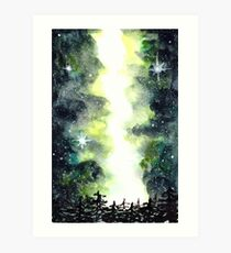 Galaxy Milky Way Sky | Starry Night | Night Sky Art Print