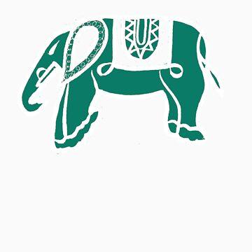 green elephant by ralphyboy