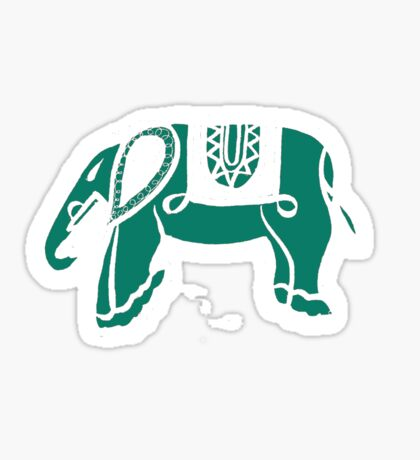 green elephant Sticker