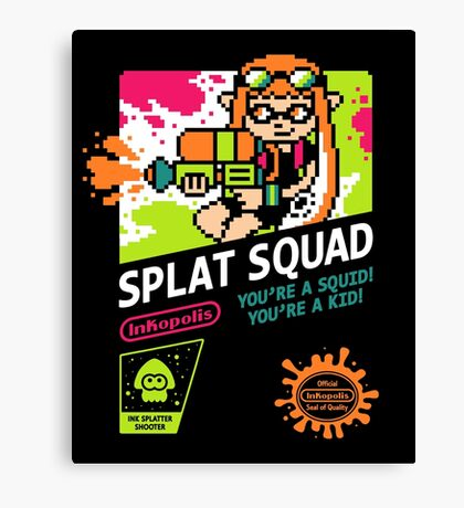 SPLAT SQUAD Canvas Print