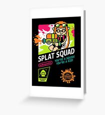 SPLAT SQUAD Greeting Card