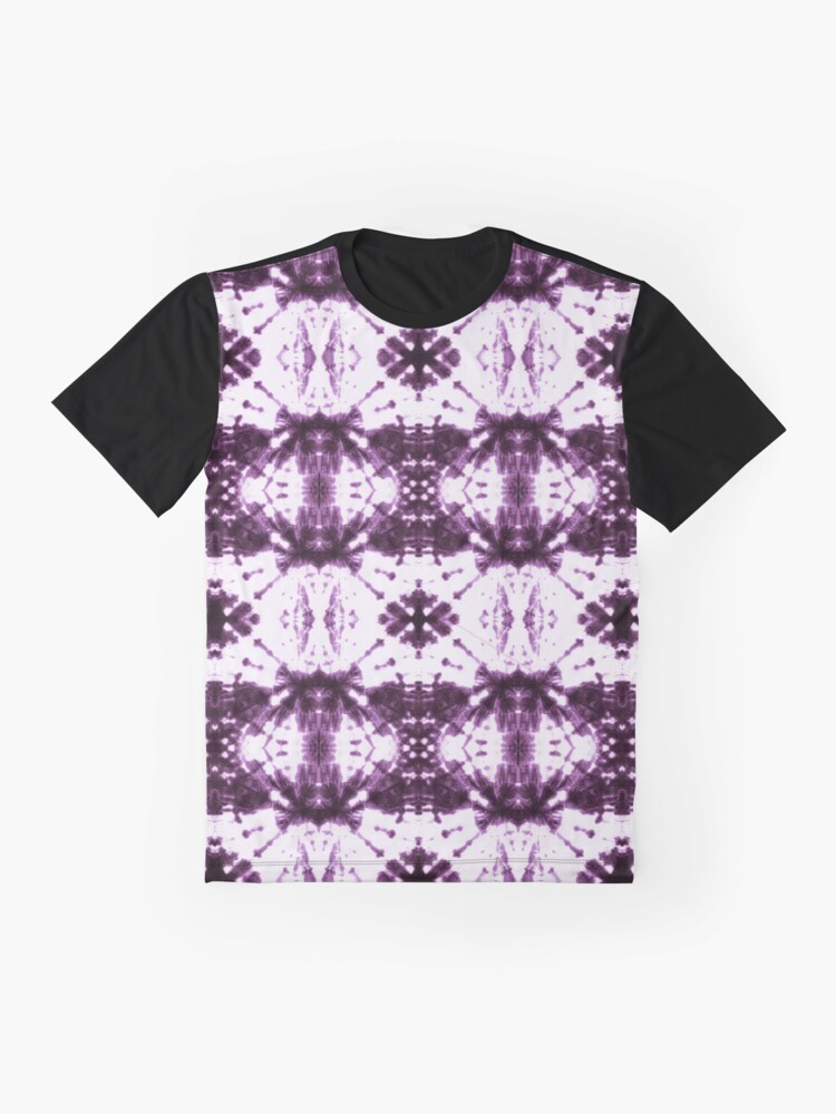 Alternate view of Ikat Shibori Violet Graphic T-Shirt