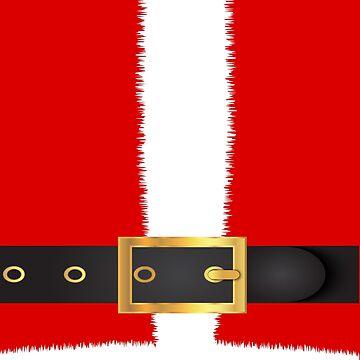 Santa Claus Costum Christmas Suit Shirts Gift Idea by Rueb