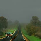 Fog Lifting on a Country Road by Nadya Johnson
