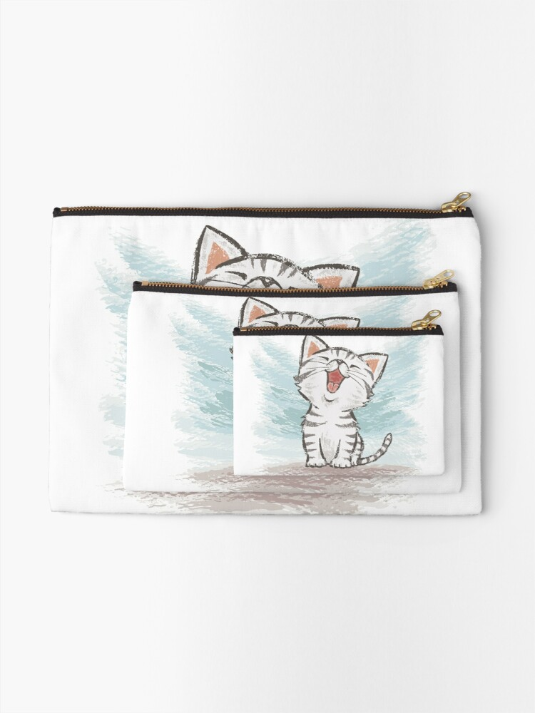 Alternate view of American Shorthair happy Zipper Pouch
