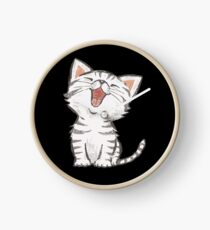 American Shorthair happy Clock