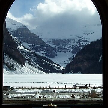 Snow Covered Lake Louise by MarthaMedford
