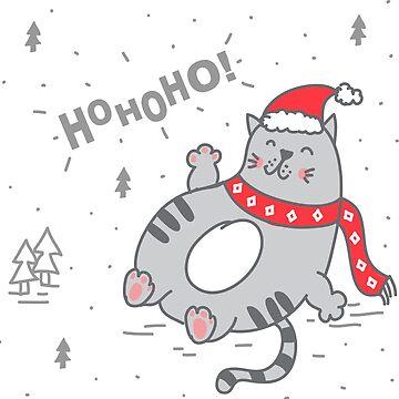 Naughty Thick Cat Shirt Christmas Gift Hoho by Rueb