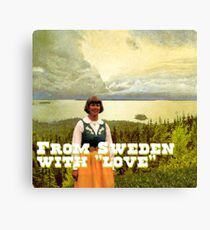 From Sweden with Love Canvas Print
