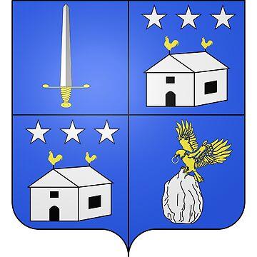 French France Coat of Arms 17800 Blason Nicolas Joseph Maison by wetdryvac