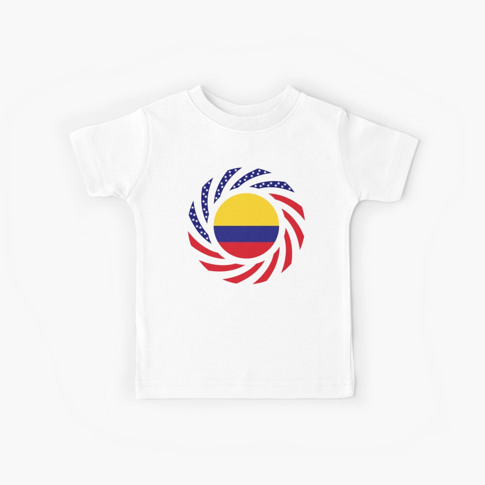 Colombian American Multinational Patriot Flag Series Kids T-Shirt