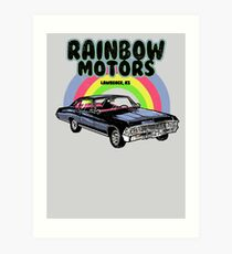 Rainbow Motors Art Print