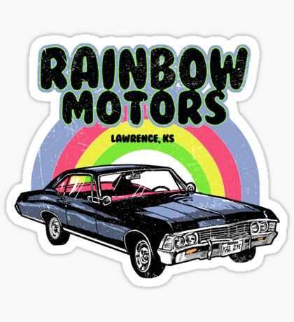 Rainbow Motors Sticker