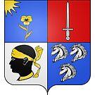 French France Coat of Arms 17801 Blason Nicolas Marin, baron Leclerc des Essarts by wetdryvac