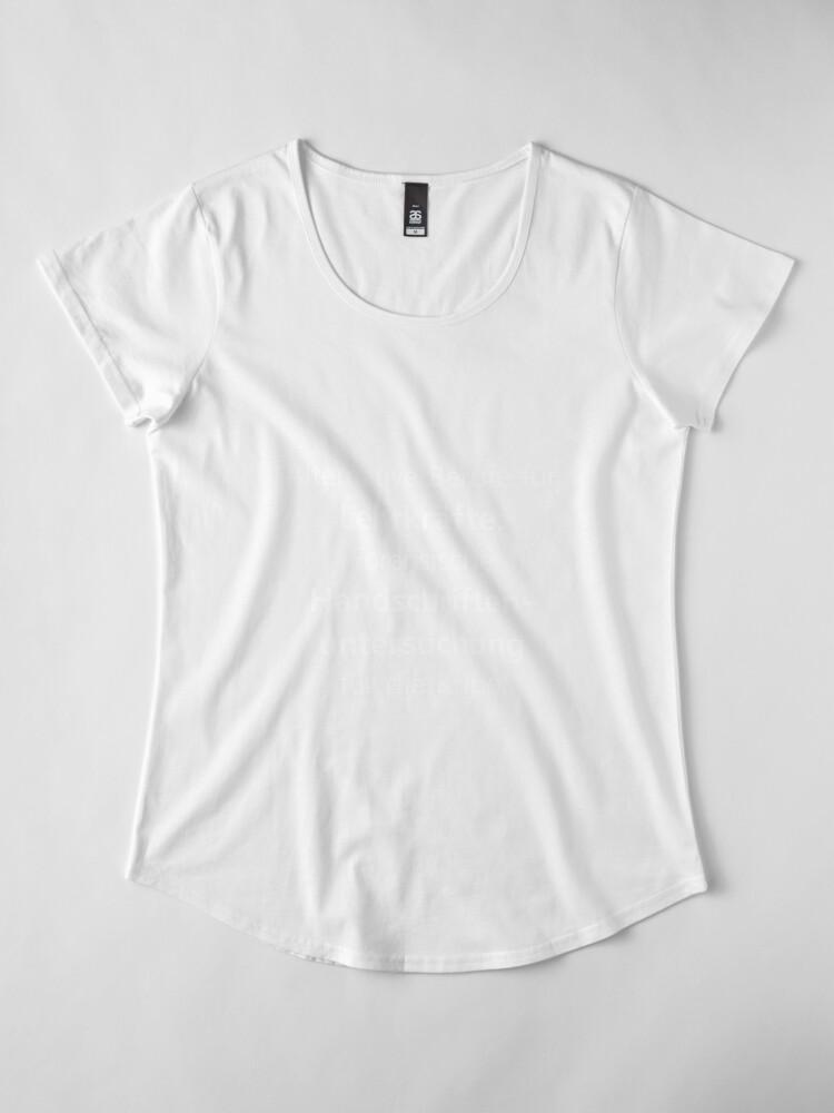 Vista alternativa de Camiseta premium de cuello ancho Profesor | Profesora profesora escuela diciendo | regalo