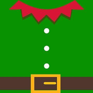 christmas elf costum sweater dress by Rueb