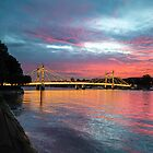 An Albert Bridge Sunset, Battersea  by chrisjdalton