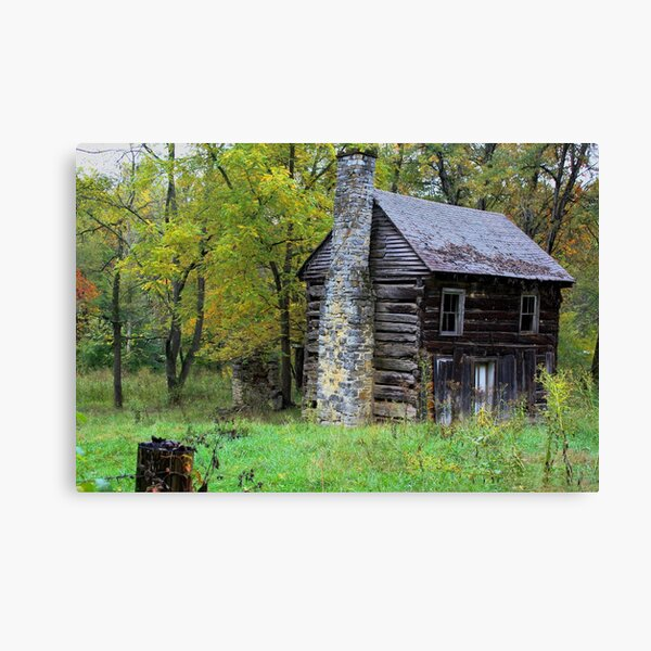 Little Cabin in the Woods... Canvas Print