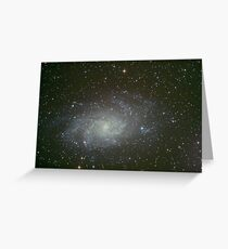 M33 triangulum galaxy Greeting Card