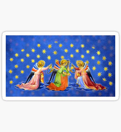 Gothic Angels with Starry Sky Sticker