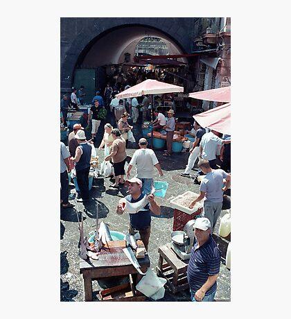 Catania Fish Market Photographic Print