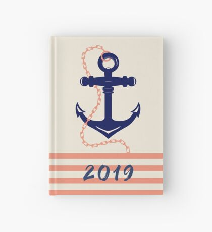 AFE Navy Anchor and Chain Hardcover Journal