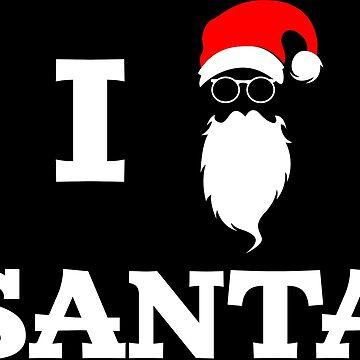 Santa Claus I Love Christmas Suit Shirts Gift Idea by Rueb