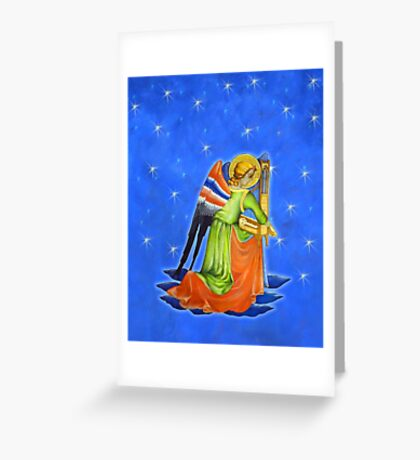 Gothic Angel with Starry Sky #2 Greeting Card