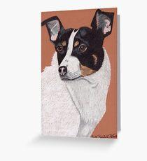 Rat Terrier Vignette Greeting Card