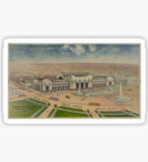 Vintage Illustration of Union Station (1906) Sticker