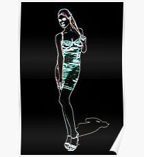 High Fashion Girl Fine Art Print Poster