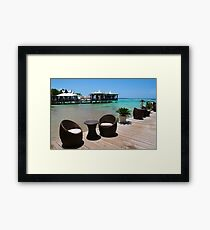 Infinity Luxury Swimming Pool in the Cayman Islands Framed Print
