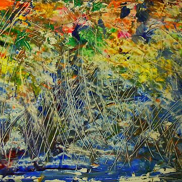 """Fall Reeds in Stream"" by Dloneger"