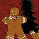 Christmas Gingerbread Man Cookie by Melissa J Barrett