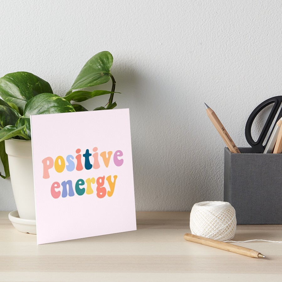 positive-energy-art-board-print by meghandulaney