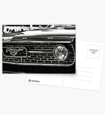 close up of Ford Mustang Postcards