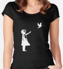Carrier Pigeon Women's Fitted Scoop T-Shirt