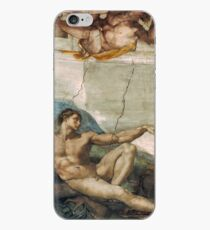 Creation of Adam by Michelangelo iPhone Case