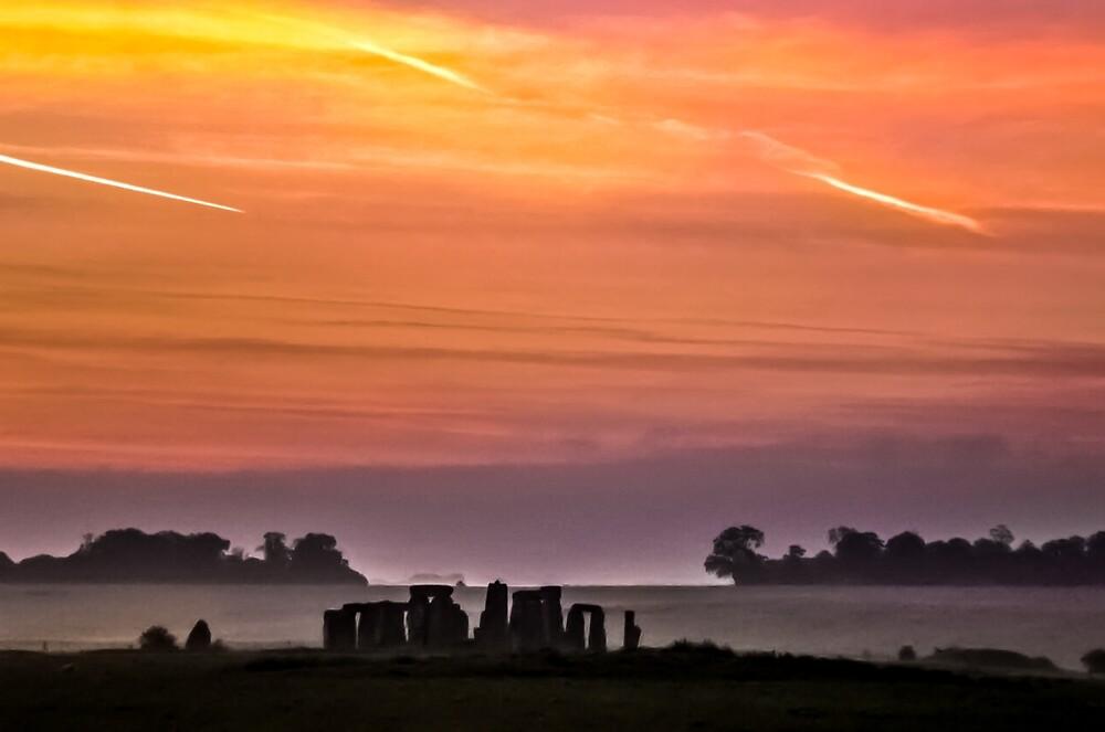 Stonehenge England sunset by Apatche Revealed