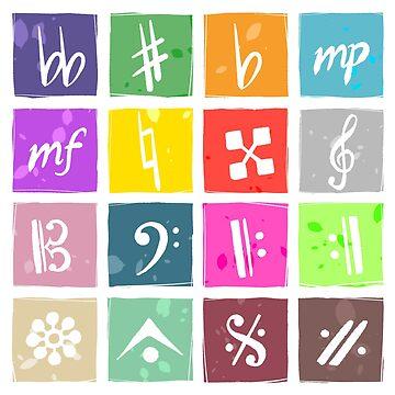 IDOLiSH7 Music Symbols by astrayeah