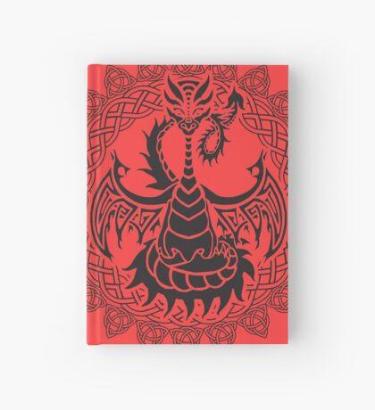 Zen Tattoo Dragon Meditating in Celtic Mandala Hardcover Journal