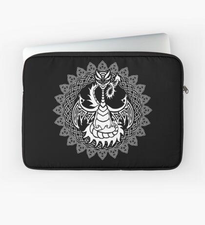 Zen Tattoo Dragon Meditating in Celtic Mandala Laptop Sleeve
